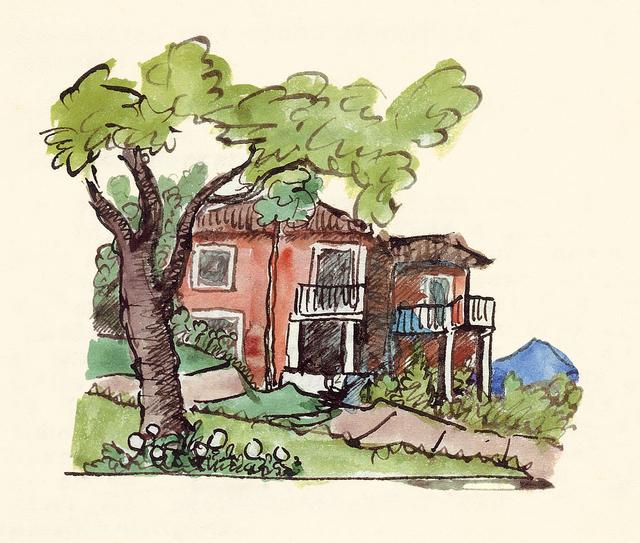 , 'Casa Bodmer, Montagnola,' 1932, Ludorff