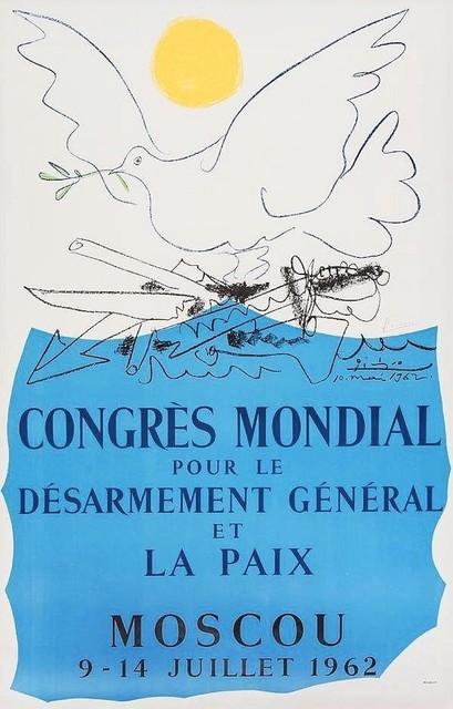 Pablo Picasso, 'Congrès pour la Paix', 1962, Print, Original lithograph in colors, michael lisi / contemporary art