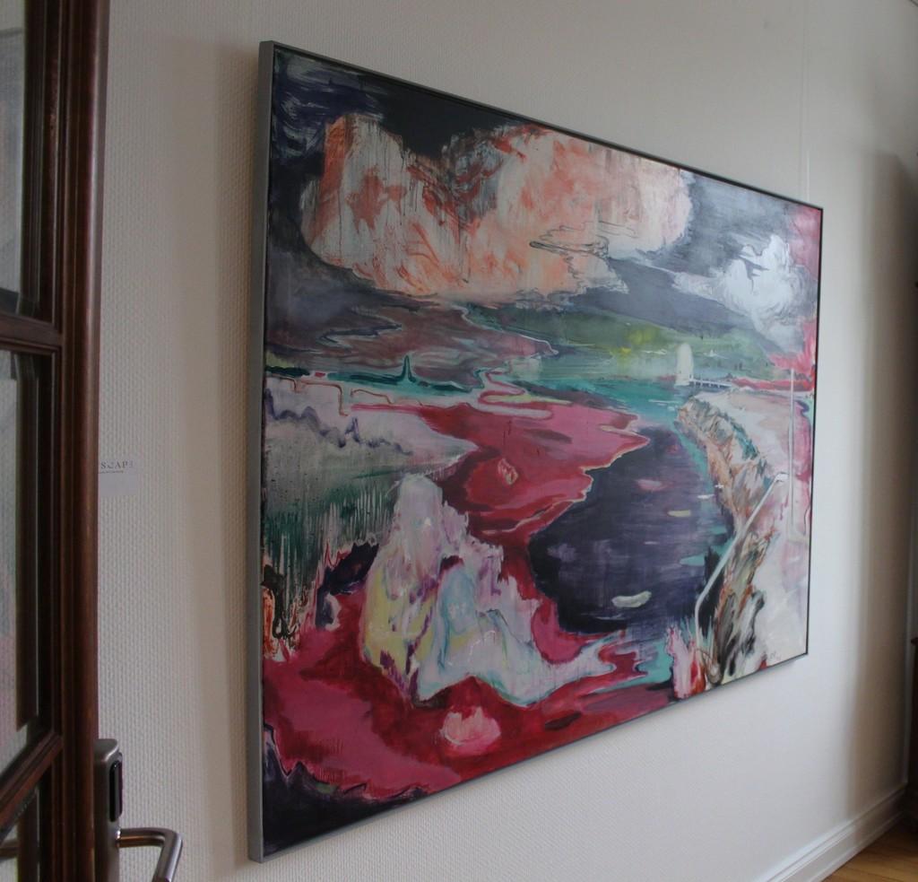 Mermaid, 2018, Oil on canvas, 130 x 190 cm