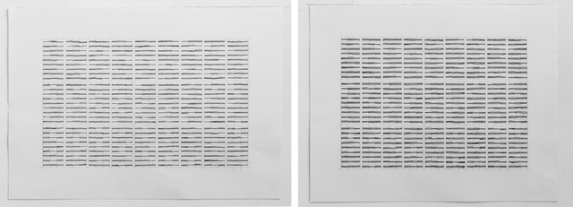 , 'Horizontal Lines - Part 1 Drawing No. 1 and Drawing No. 2,' 2012, Gallery Isabelle van den Eynde