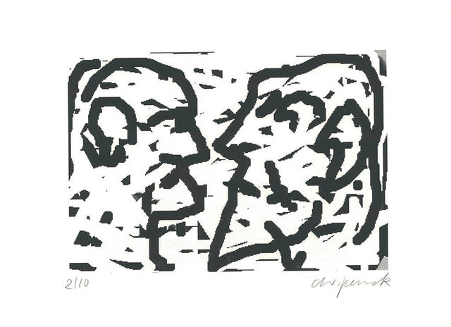 A.R. Penck, 'Doppelkopf', 1992, Gallery AM MEER
