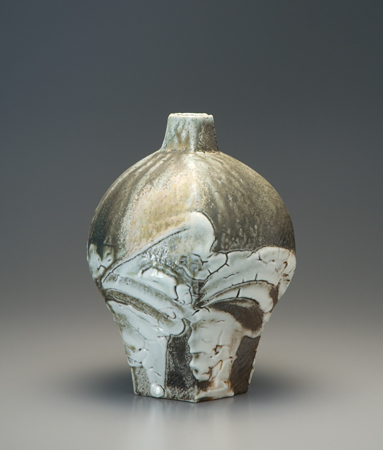 , 'Vase, yohen shino natural ash glaze,' 2010, Pucker Gallery