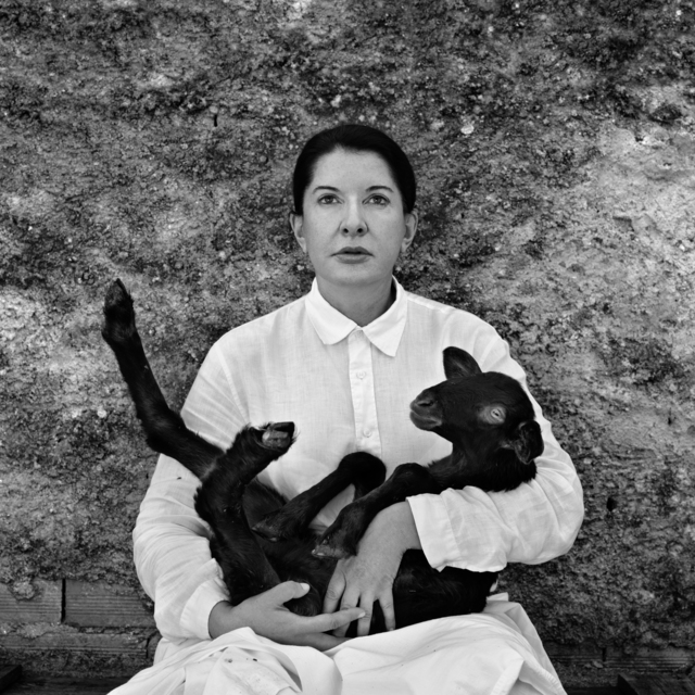 , 'Portrait with Lamb (black),' 2010, Wilde