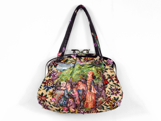 , 'The Power of Ladies' Lamentations Carpet Bag (after Lizzie Siddal),' 2018, Fisher Parrish Gallery