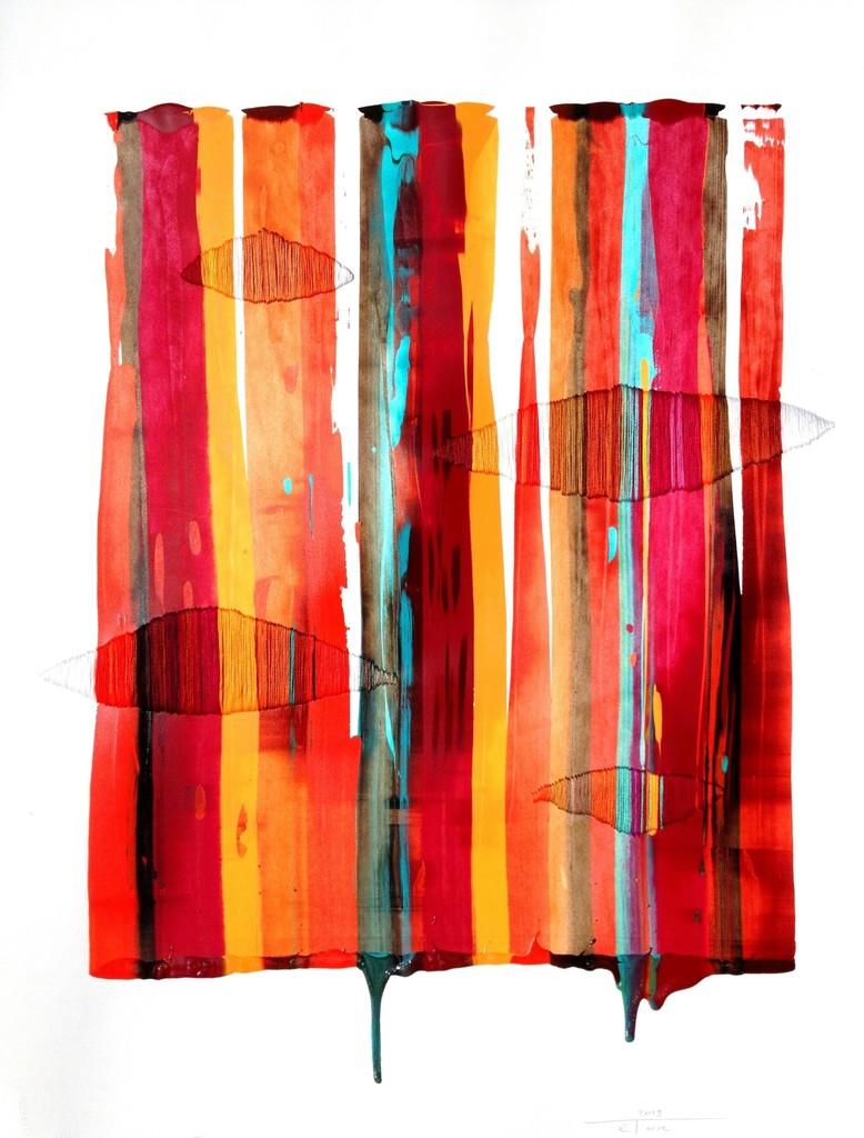 Raul de la Torre, 'FILS I COLORS 160 (framed),' 2013, Artspace Warehouse
