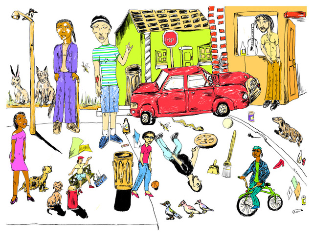 Gerald Wiggins, 'Gerald Wiggins's World', 2015, Creativity Explored