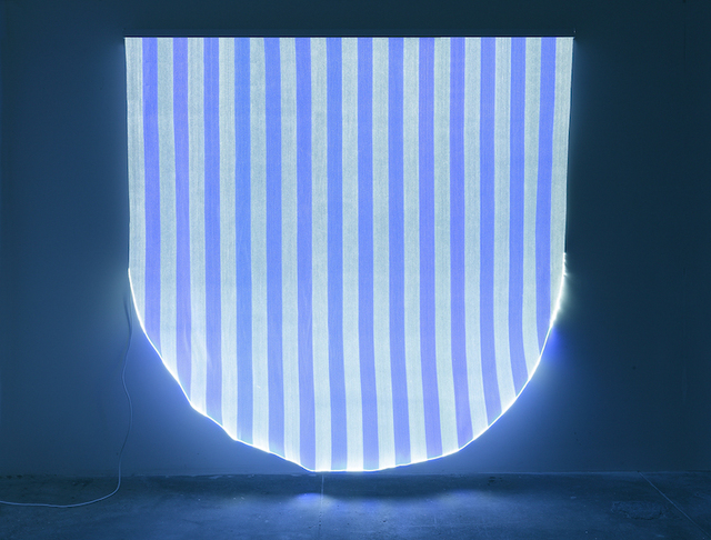 , 'Optical Fiber, White and Blue Half Circle, Situated Work,' 2012, Sandra Gering Inc