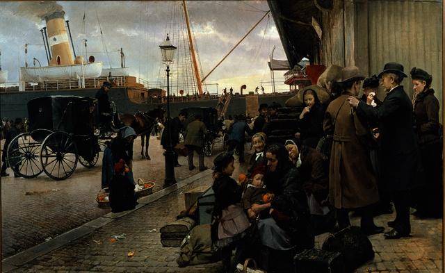 , 'Udvandrere på Larsens Plads,' 1890, ARoS Aarhus Art Museum
