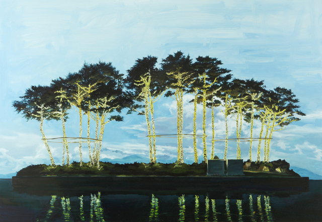 , 'Pine Trees with light bulb    ,' 2015, Vivian Choi Gallery