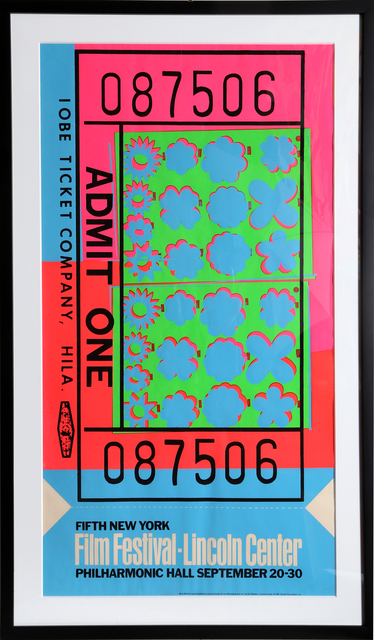 Andy Warhol, 'Lincoln Center Ticket (FS.II.19)', 1967, RoGallery