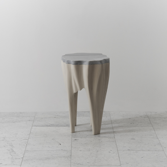 , 'Ash and Marble Side Table, USA,' 2016, Todd Merrill Studio