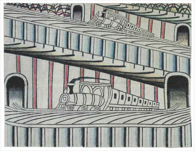 , 'Untitled (Trains on Inclined Tracks),' ca. 1960-1963, Ricco/Maresca Gallery