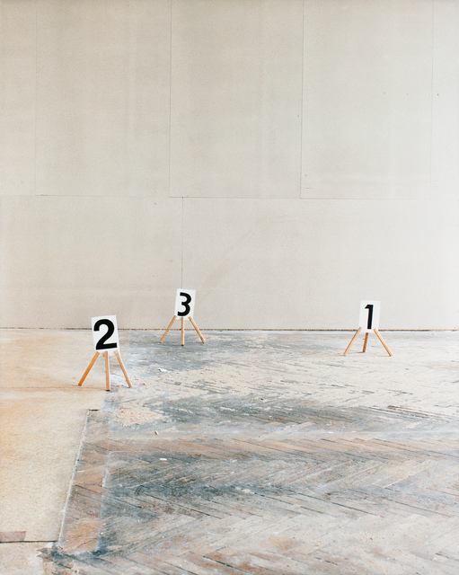 , 'Some Marks, a Square, and a Figure (triptych part 1/3),' 2012, Pierogi
