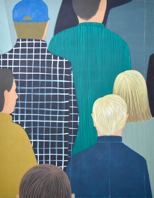 , 'Downtown (two paintings),' 2019, Galerie Claire Gastaud