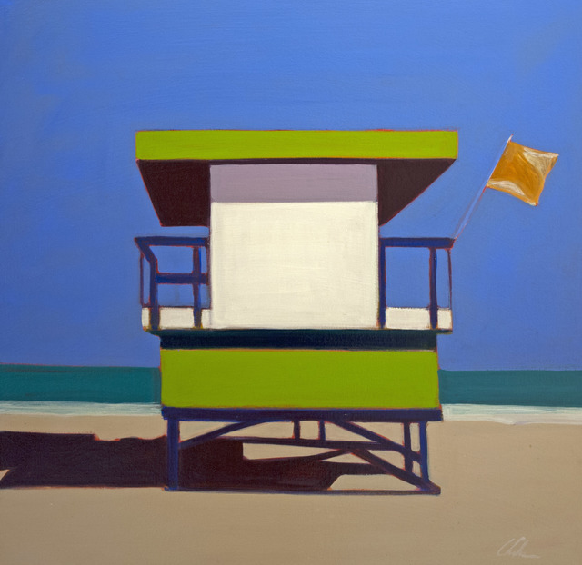 , 'Life Guard Station with Green & White,' 2016, Caldwell Snyder Gallery