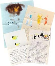 Unique collection of 118 autographed letters and letter cards