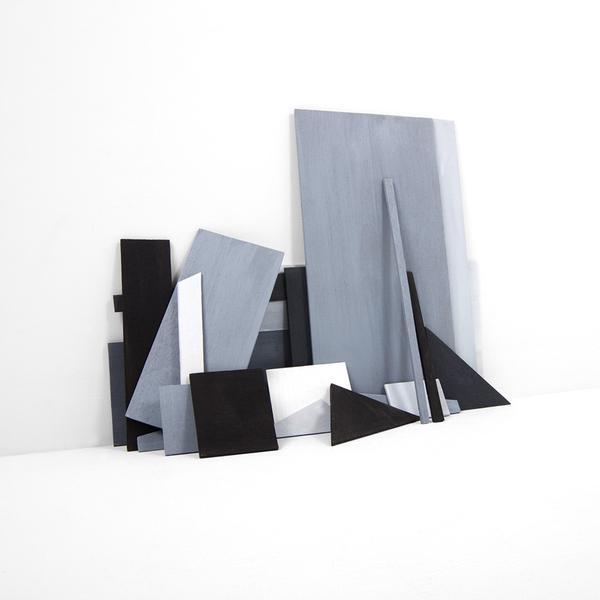 , 'Six Sheets of Plywood Cut Into Various Shapes and Sizes, Maquette - Version 2,' 2018, Bau-Xi Gallery