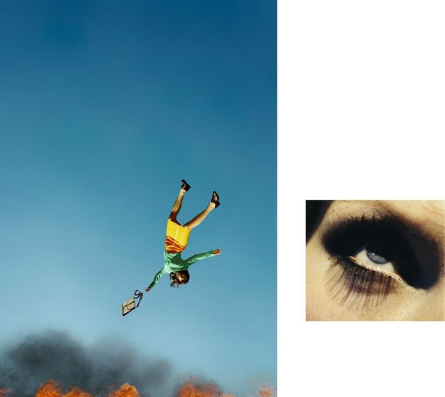 Alex Prager, '10:58 am Bunker Hill and Eye #7 (Suicide) (diptych)', 2012, Cob