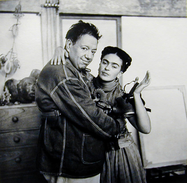 , 'Frida and Diego with Gas Mask,' ca. 1939, PDNB Gallery