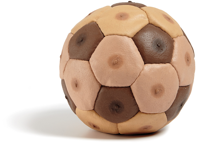 Nicola Costantino, 'Male Nipples Soccer Ball (from the series Human Furiery)', 2000, Sculpture, Leather and silicone, Phillips