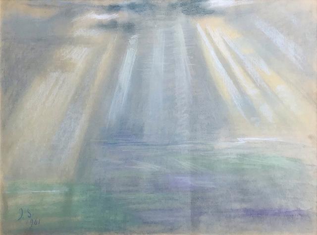 Elene Akhvlediani, 'Sunrise in Alazani Valley', 1961, Baia Gallery
