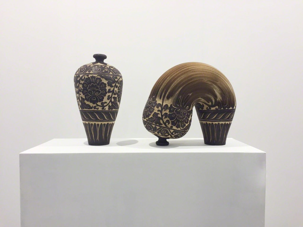 Li Hongbo |  Fortune | Paper Sculpture | 56H x 28 Diameter cm each