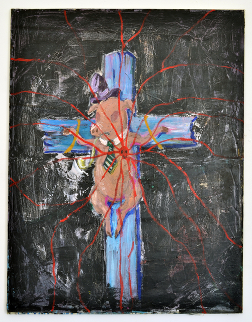 , 'The Spider on the Crucified Pig,' 2016, Marie Kirkegaard Gallery