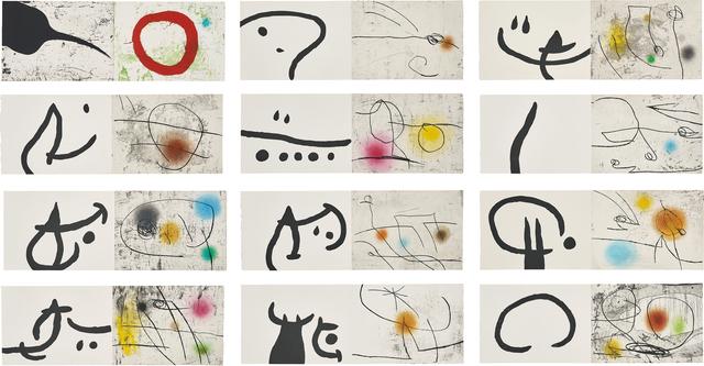 """Joan Miró, 'Lapidari """"Llibre de les propietats de les pedres"""" (Lapidary """"Book of the Property of Stones"""")', 1981, Phillips"""