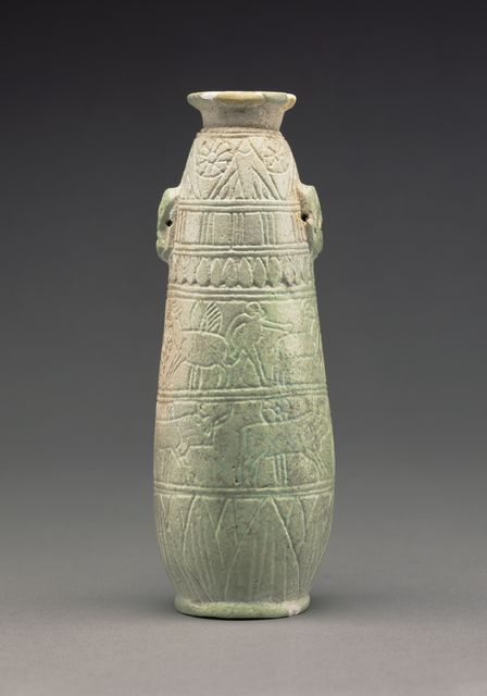 'East Greek Faience Alabastron',  about 580 B.C., J. Paul Getty Museum