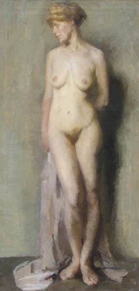 Beatrice Whitney Van Ness, 'Nude with Draperies', ca. 1910, Painting, Oil on canvas, Childs Gallery