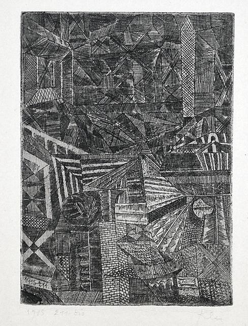 , 'Spiegelndes Fenster (Reflecting Window),' 1915, Harris Schrank Fine Prints