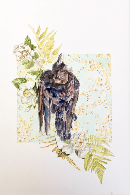 , 'Crow and Gardenia,' 2017, Ghostprint Gallery
