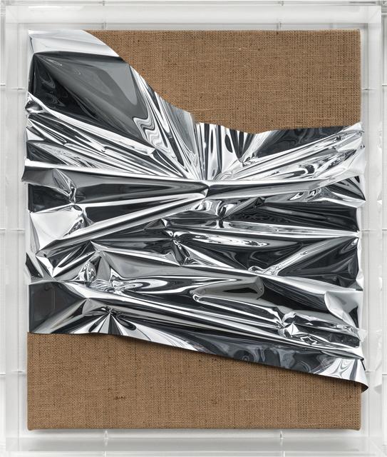 Anselm Reyle, 'Untitled', 2019, Sculpture, Mixed media on jute, acrylic glass, KÖNIG GALERIE
