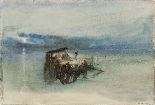 , 'Fishermen on the Lagoon, Moonlight,' 1840, de Young Museum