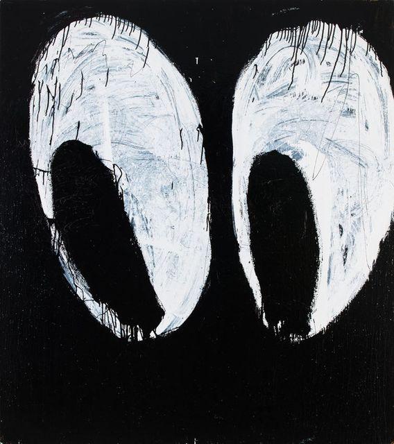 Joyce Pensato, 'Magic Bag Eyes', 2014, Painting, Enamel on linen, Petzel Gallery