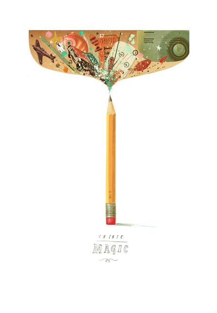 Oliver Jeffers, 'Create (Magic) Curiosity', 2019, Lazinc