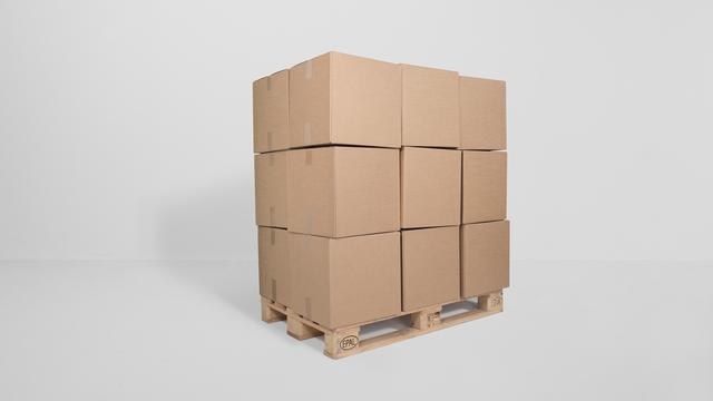 , '36 prepared dc-motors, cardboard boxes 40x40x40cm, palette,' 2013, bitforms gallery
