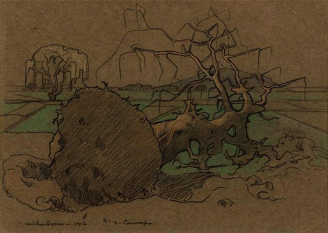 Jacob Hendrik Pierneef, 'Wildenboom', 1912, Drawing, Collage or other Work on Paper, Mixed media on paper, Strauss & Co