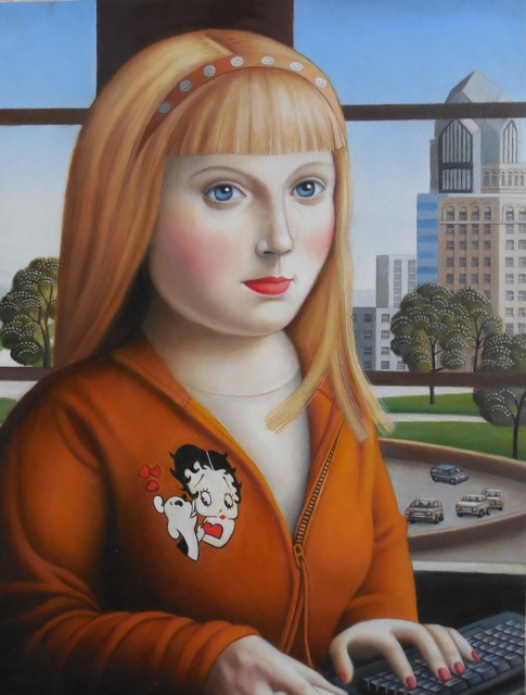 , 'Young Woman with Blonde Hair,' 2017, Lois Lambert Gallery