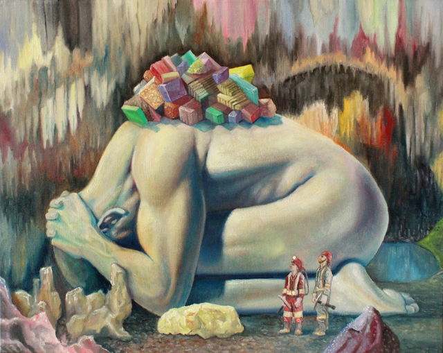 , 'Rock Giant and the Miners,' 2018, Galerie Youn