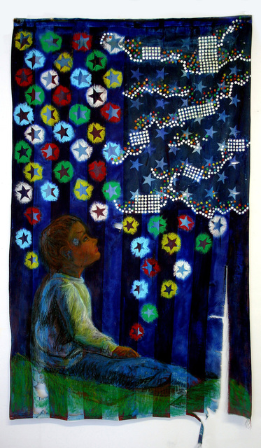 , 'American Prayer Flag: Blue = Sky and Space,' , Cerulean Arts