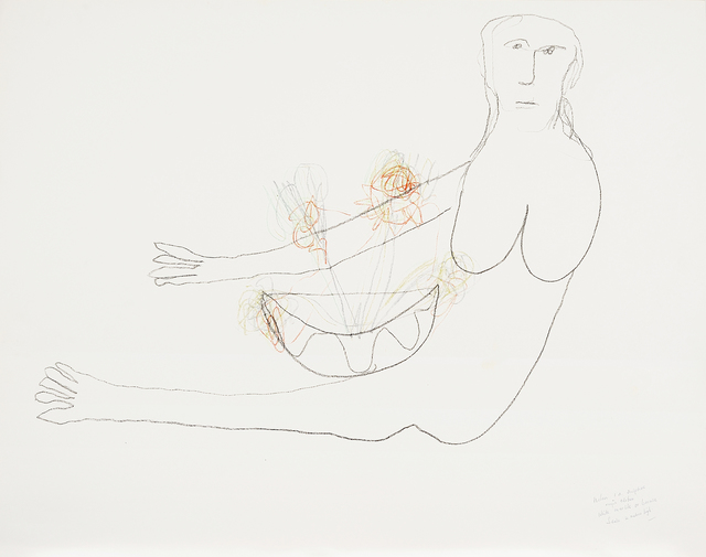 , '(Woman with flowers - Study for sculpture),' c. 1980s, Charles Nodrum Gallery