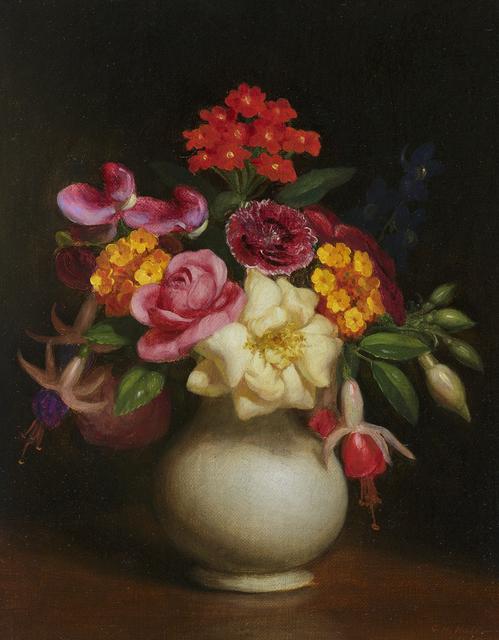 George Henry Hall, 'Floral Still Life', 1860, Debra Force Fine Art