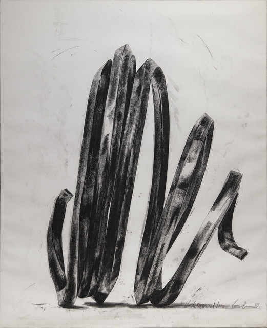 Bernar Venet, 'Undetermined Line', 1988, Drawing, Collage or other Work on Paper, Charcoal on paper, de Sarthe Gallery