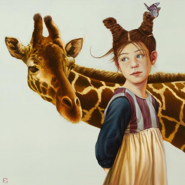 Claudia Giraudo, 'Bimba con giraffa', 2018, Galleria Punto Sull'Arte