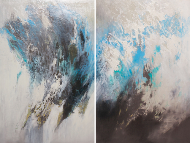 , 'Windswept Currents (Diptych),' 2017, Tiffany's Art Agency