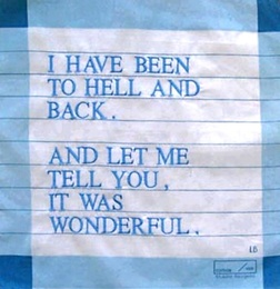 I Have Been to Hell and Back Handkerchief