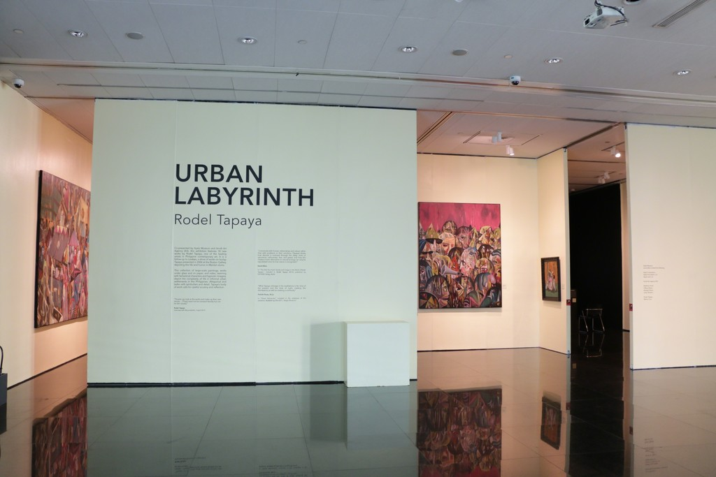 "Installation View. Rodel Tapaya "" Urban Labyrinth"", Ayala Museum, Manila. February 23 - April 15, 2018."