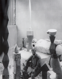 Brancusi In His Studio
