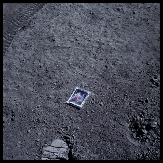 , '058 Image of Charles Duke's Family on Lunar Surface; Photographed by Charles Duke, Apollo 16, April 16-27, 1972,' 1999, Danziger Gallery